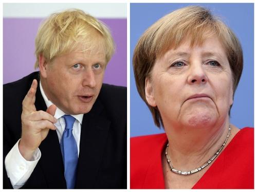 Boris Johnson a Angela