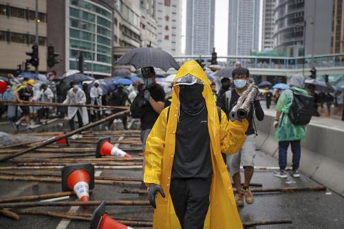 FOTO Napätie v Hongkongu