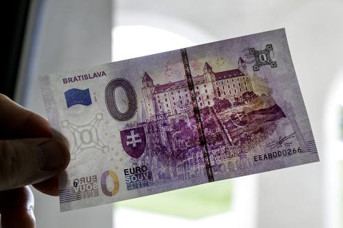 Predaj nulovej eurobankovky na