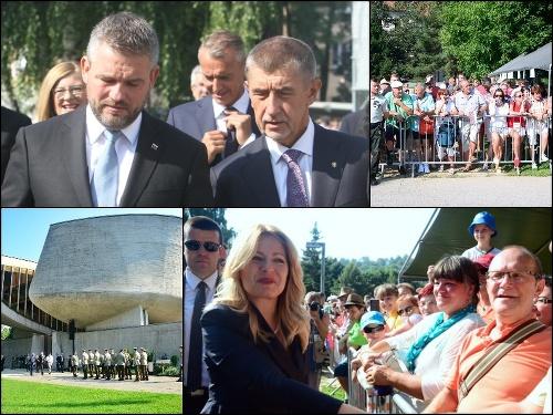 (Zľava) Primátor mesta Banská