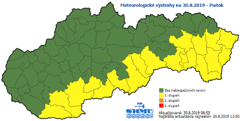 Tieto časti Slovenska čaká