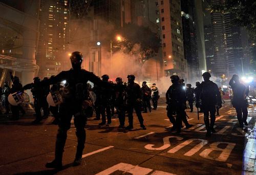 FOTO Demonštrácie v Hongkongu