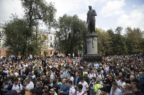 Protest prívržencov opozície