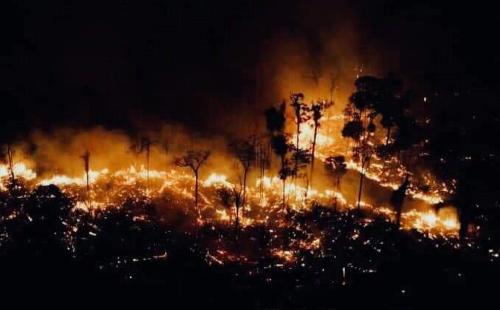 Požiare v Bolívii sú