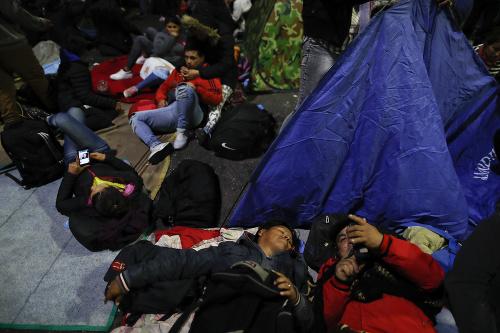 Obyvatelia protestujú v centre