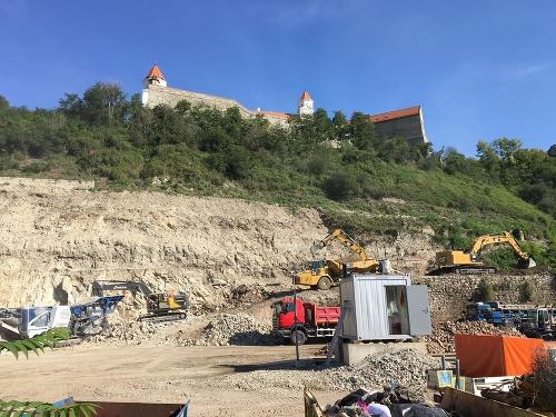Stavenisko pod Bratislavským hradom.