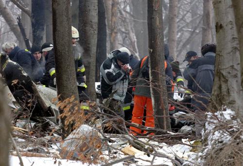 Miesto po havárii slovenského