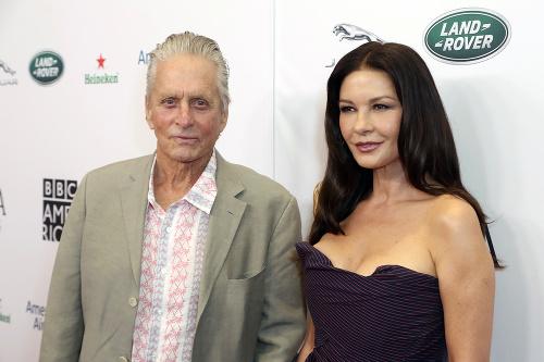 Michael Douglas s manželkou