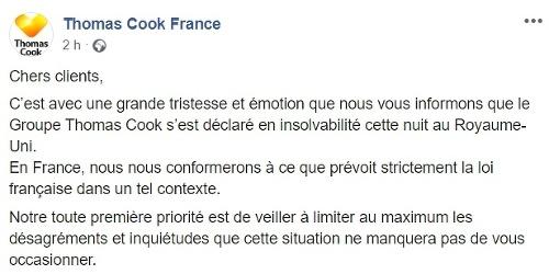 Francúzska pobočka Thomas Cook