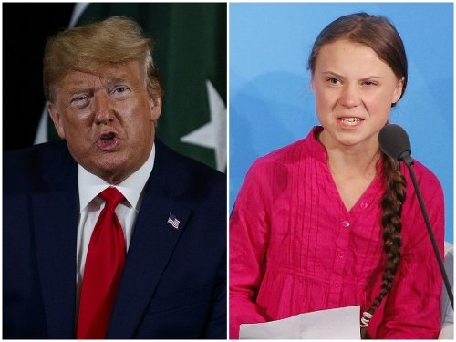 Donald Trump a Greta