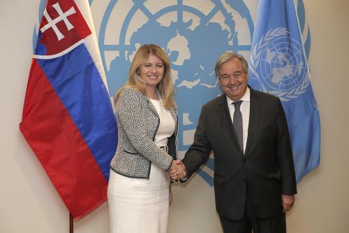Zuzana Čaputová a Antonio
