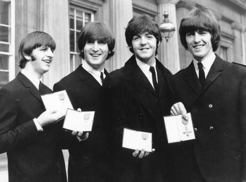Skupina Beatles - zľava