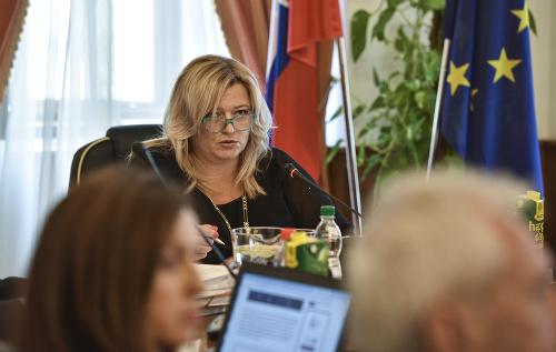 Na snímke predsedníčka Súdnej