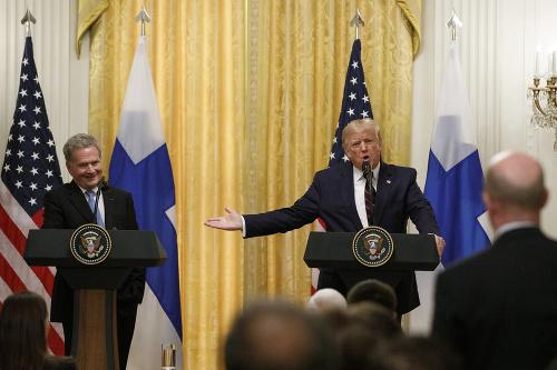 Donald Trump a fínsky