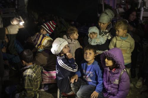 Zachránení migranti v Grécku