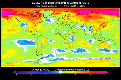 Meteorológovia zverejnili prvú predpoveď