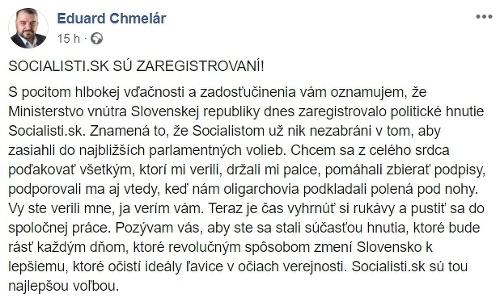 Eduard Chmelár to skúša