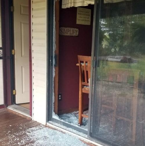 Cap rozbil sklenené dvere