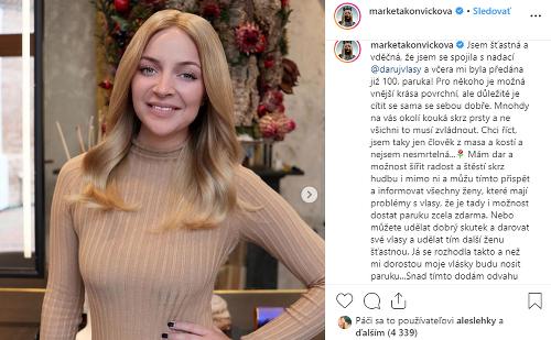 Markéta Konvičková kvôli nádoru