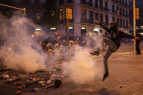 Protesty v Barcelone sa