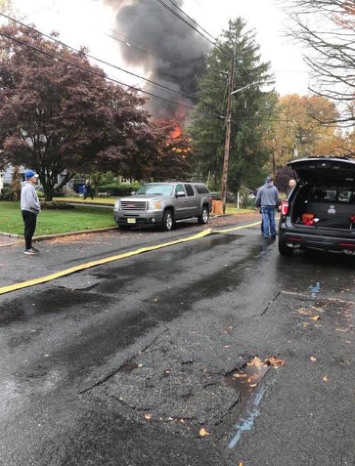 Výbuch lietadla spôsobil požiar