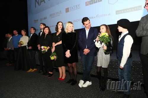 Delegácia tvorcov filmu Ženská