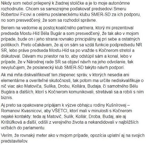MIMORIADNA SPRÁVA Martin Glváč