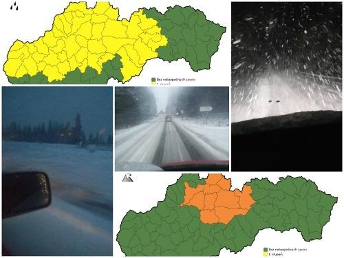 Na severe Slovenska snežilo.