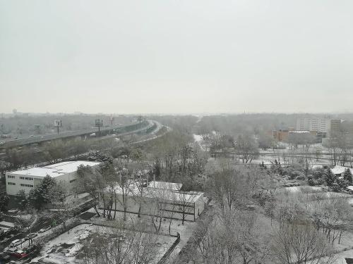Sneh v bratislavskej Petržalke.