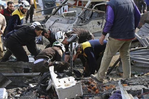Hrôza v Sýrii, pri