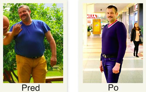 Muž schudol 29 kíl