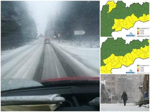 Na Slovensko zavítala zima.
