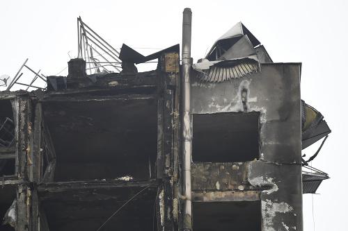 Zhorený bytový dom dnes