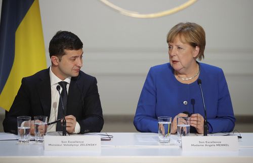Volodymyr Zelenskyj a Angela