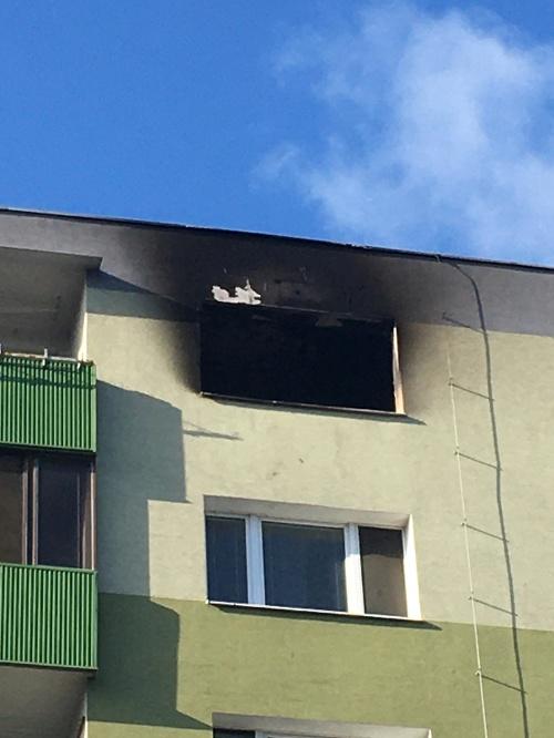 Požiar v bratislavskej Vrakuni.