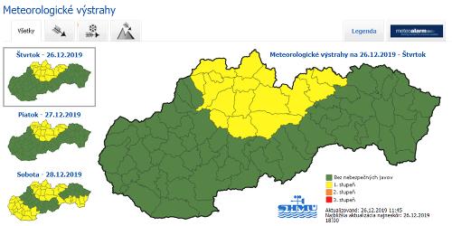 Výstrahy na Slovensku pred