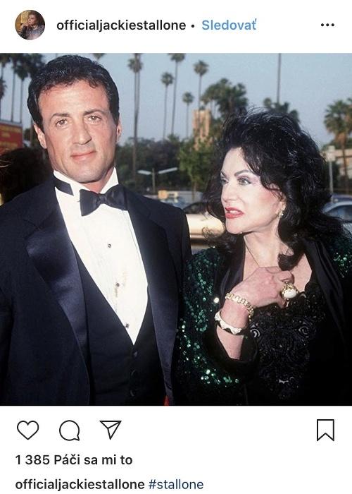 Jackie Stallone so svojim