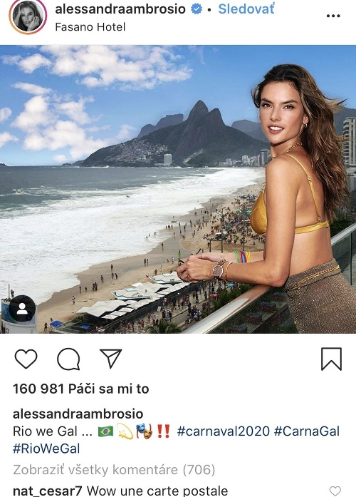 Alessandra Ambrosio si užíva
