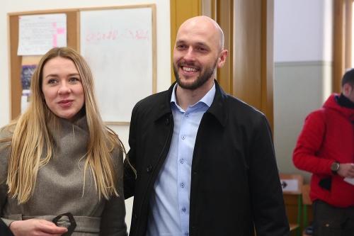 Michal Truban s partnerkou