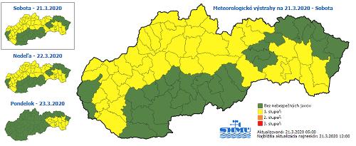 Na Slovensku opäť husto