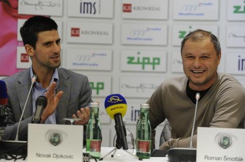 Novak Djokovič a Marián