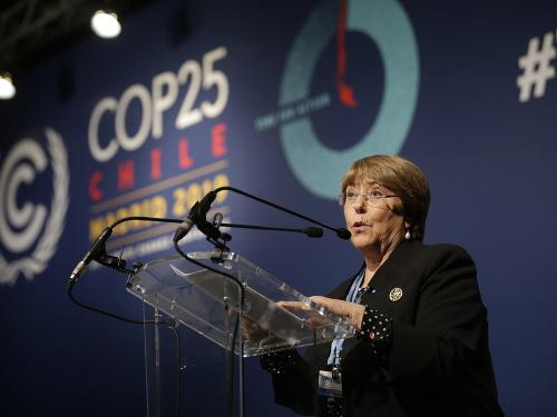 Michelle Bacheletová.