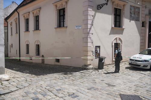 Polícia zasahovala v centre