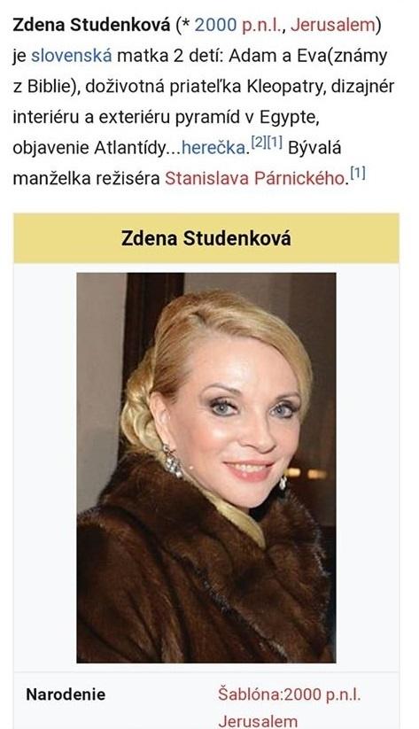 Nestarnúca Studenková terčom posmechu: