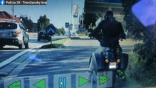 Motocyklista si dal vyrobiť