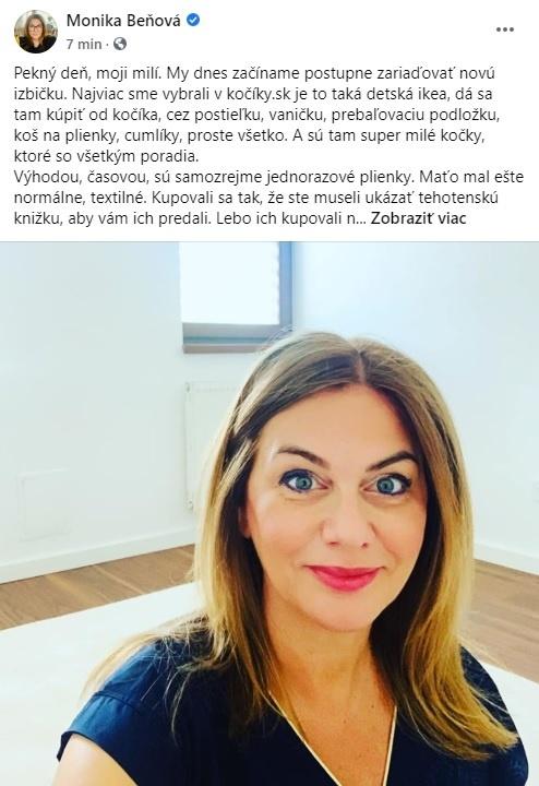 Beňová (51) si zaspomínala