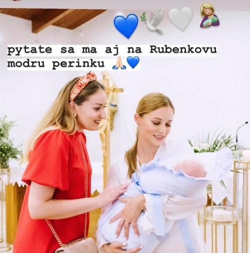 Mária Čírová pokrstila synčeka:
