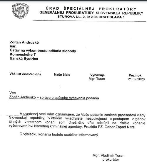 Ďalší LIST od Andruskóa!