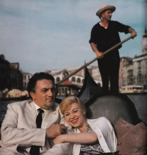 Federico Fellini a Giulietta
