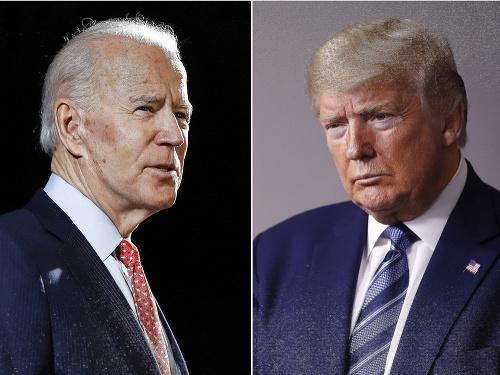 Joe Biden a Donald